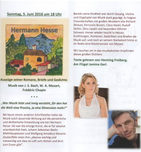 Flyer Hermann Hesse